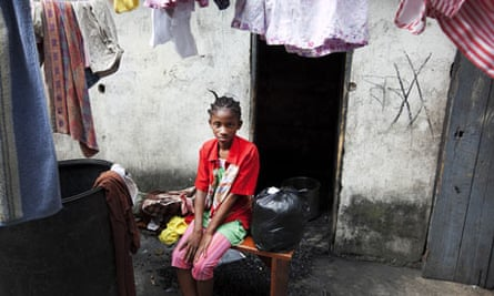 Wisline Etienne, 13, at the Foyer de Sion orphanage in Petionville, Port-Au-Prince.