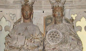 A statue of Alfred the Great's granddaughter Eadgyth (left) at Magdeburg Cathedral in Germany
