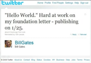 Bill Gates's first tweet