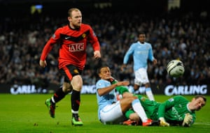 City v United: Given claws away Rooney's shot