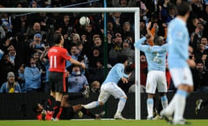 City v United: Tevez scores City's second goal to take the lead