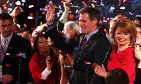 Scott Brown celebrates winning Senate seat