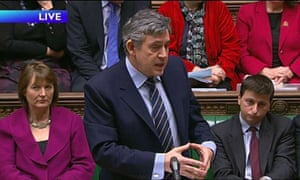 Prime Minister Gordon Brown speaks during Prime Minister's Questions.