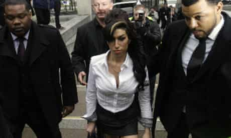 Amy Winehouse arrives at court