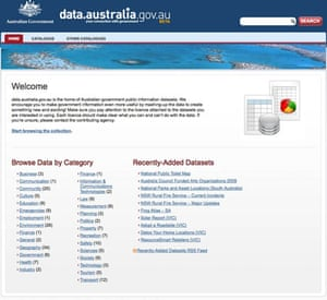 Official government data : Australia official data store