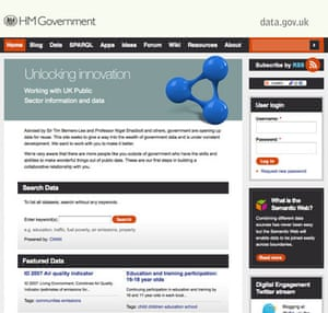 Official government data : UK data store