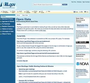 Official government data: Rhode Island data