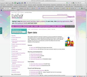 Government data: Lichfield