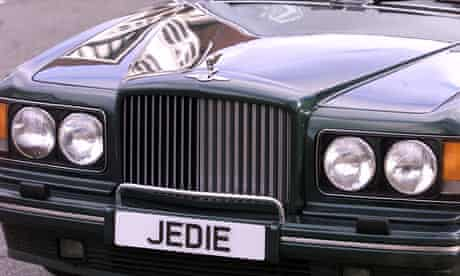 Bentley with personalised numberplate