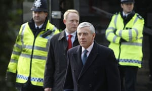 Justice secretary Jack Straw arrives at the Iraq inquiry in central London