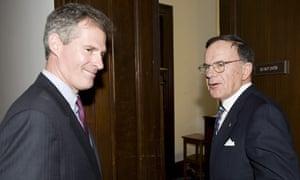 Senator-elect Scott Brown arrives in Washington DC