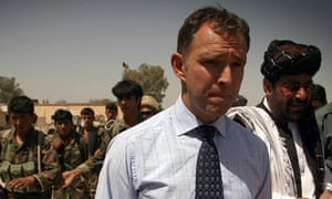 Mark Sedwill with Afghan soldiers in Helmand province during 2009