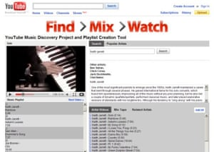 YouTube adds a music discovery / playlist feature, and