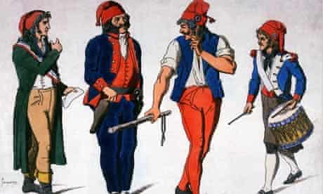 Print Depicting Revolutionaries from the French Revolution