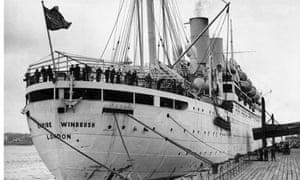 The Empire Windrush in 1954.