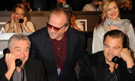 Robert De Niro Jack Nicholson Drew Barrymore Leonardo DiCaprio Hope For Haiti telethon los angeles