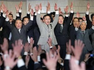 24 hours in pictures: Sadakazu Tanigaki  leader of Japanese Liberal Democratic Party