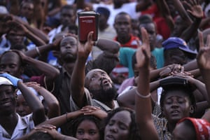 24 hours in pictures: Prayer vigil in Champs de Mars area of Port au Prince, Haiti