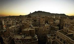 View of the Yemeni city of Sana'a
