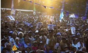 Mahinda Rajapaksa rally, Sri Lanka