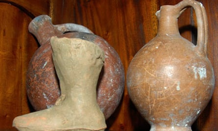 Urns seized by police in the southern city of Limassol, Cyprus