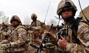 British troops during a firefight with Taliban forces in Helmand