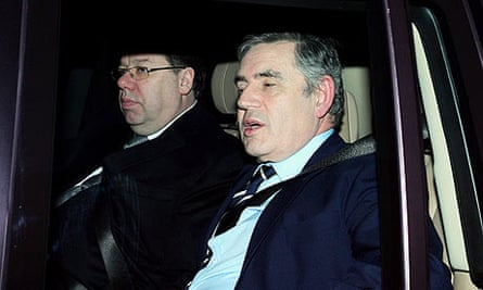 Gordon Brown and Brian Cowen arrive for power-sharing talks with Northern Ireland leaders