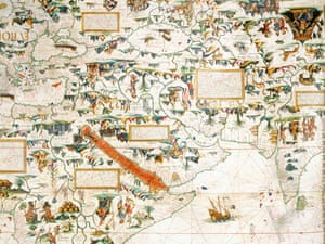 Magnificent maps power propaganda and art art and design the british library maps detail 3 pierre desceliers world map 1550 sciox Images