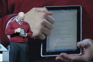 Tablet computers: 2010 Steve Ballmer 2010 Consumer Electronics Show tablet