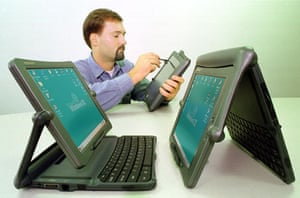 1998: Tablet computers: new Sharp Mobilon Tripad into a tablet for use as a digital notepad.