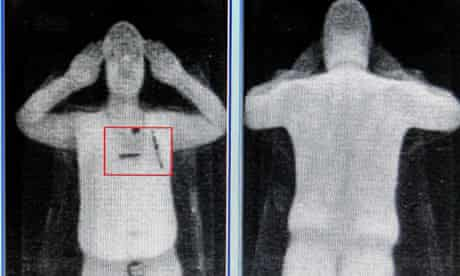 Naked body scanner at Manchester airport