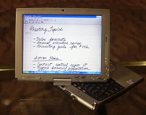 tablet gallery: 2002 The new Tablet PC, which runs on Windows XP