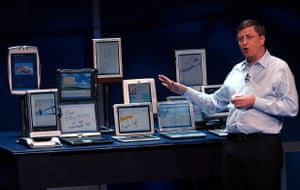 tablet gallery: 2002 Bill Gates launching the Microsoft Tablet PC, New York