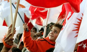 Turkish Cypriot boy with flags