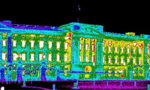 Buckingham palace thermal image