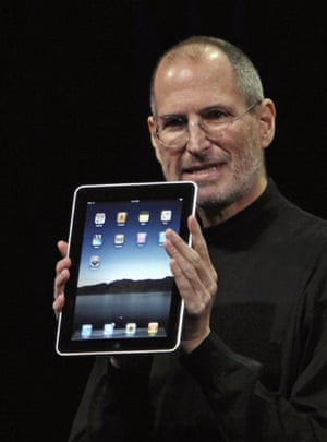 Apple ipad: Apple CEO Steve Jobs launches the ipad.