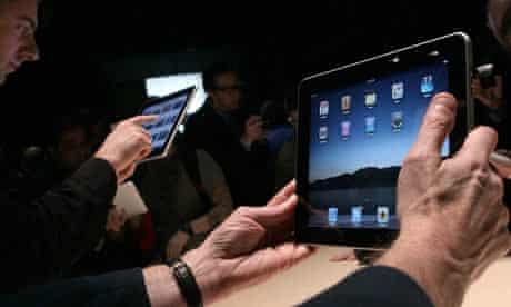 Apple iPad being played with