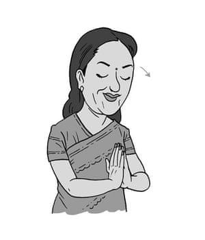 Hindi gesture: Namaste