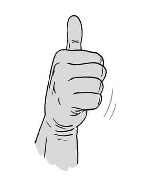 Portugese gesture: Thumbs up