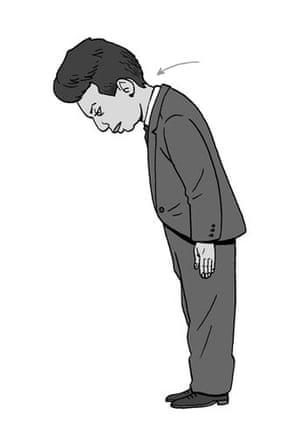 Japanese Bowing Cartoon