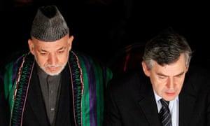 Hamid Karzai and Gordon Brown