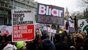 Chilcot protests: Demonstrators protest against Tony Blair