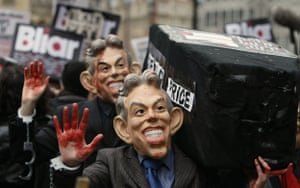 Chilcot protests: Anti-war protesters demonstrate outside the Iraq War Inquiry