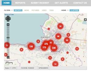 Ushahidi crowd sourcing crisis reporting in Haiti