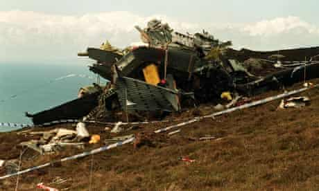 DEFENCE Chinook crash scene