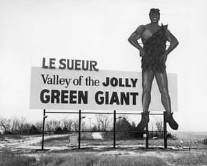 Visual History of Cooking: A twentieth century Jolly Green Giant sign and retro advert