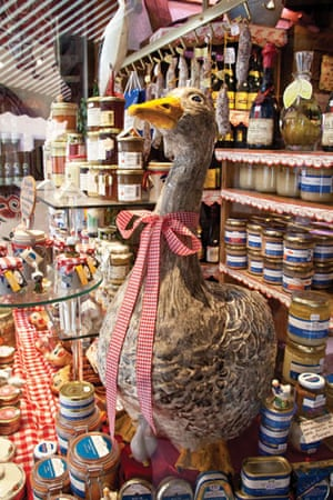 Visual History of Cooking: An elaborate foie gras window display in France