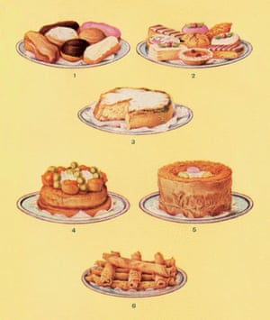 Visual History of Cooking: various cakes from Mrs Beeton's Book of Household Management
