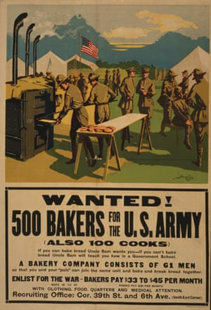 Visual History of Cooking: Bakers recruitment poster for the First World War,