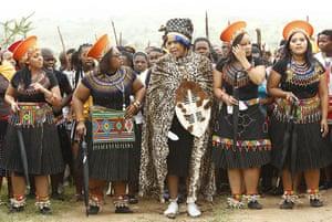 Jacob Zuma gets married: Tobeka Madiba arrives with her bride maids for her wedding to Jacob Zuma